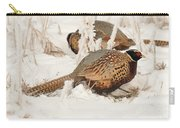 Ring-necked Pheasant Hunting In The Snow Carry-all Pouch