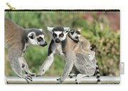 Ring Tailed Lemurs With Baby Carry-all Pouch