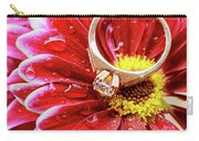 rings pink dahlias love Valentine's Day Tinted  and softened - diamond wedding  Carry-all Pouch