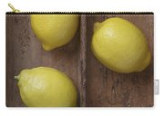 Ripe Lemons In Wooden Tray Carry-all Pouch