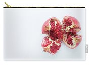 Ripe Pomegranate Fruit On A White Background Carry-all Pouch