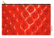 Ripe Red Fresh Strawberry Texture And Detail Carry-all Pouch