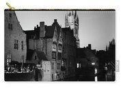 River Dijver And The Belfort At Night, Rozenhoedkaai, Bruges Carry-all Pouch