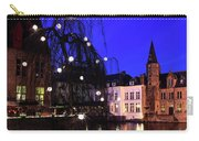 River Dijver, Rozenhoedkaai Area At Night, Bruges City Carry-all Pouch