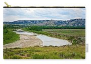 River Landscape In Northwest North Dakota  Carry-all Pouch