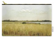 River Landscape With Cornfield Carry-all Pouch