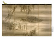 River Landscape With Fireflies  Carry-all Pouch