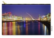 River Liffey In Dublin At Dusk Carry-all Pouch