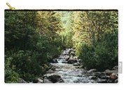 River Stream In Mountain Forest Carry-all Pouch