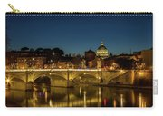 River Tiber And Vatican At Night Carry-all Pouch