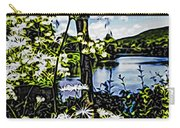 River View Through Flowers. On The Bridge Of Flowers. Carry-all Pouch