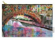 River Walk At Christmas Carry-all Pouch