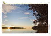 Riverbank Sunset Carry-all Pouch