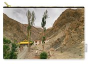 Rizong Monastery With View Of Himalayan Mountians Leh Ladakh Jammu And Kashmir India Carry-all Pouch