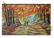 Road Of Life  Fine Art Carry-all Pouch