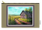 Road On The Farm Haroldsville L A With Decorative Ornate Printed Frame.  Carry-all Pouch