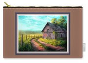 Road On The Farm Haroldsville L B With Alt. Decorative Ornate Printed Frame.   Carry-all Pouch