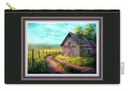 Road On The Farm Haroldsville L B With Decorative Ornate Printed Frame. Carry-all Pouch