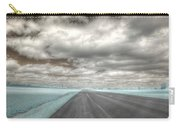 Road Sky Infrared Clouds Landscape Open Road Travel Path Road Trip Carry-all Pouch