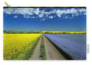 Road Through Flowering Flax And Canola Carry-all Pouch