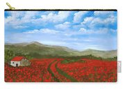 Road Through The Poppy Field Carry-all Pouch
