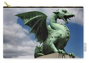 Roaring Winged Dragon Sculpture Of Green Sheet Copper Symbol Of  Carry-all Pouch