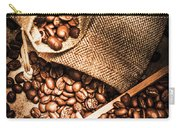 Roasted Coffee Beans In Drawer And Bags On Table Carry-all Pouch