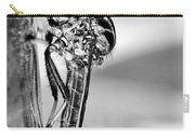Robber Fly - Black And White Carry-all Pouch