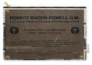 Robert Baden-powell Plaque Carry-all Pouch