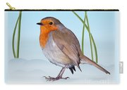 Robin And Cold Snowdrops Carry-all Pouch
