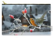 Robin And Rose Hips Carry-all Pouch