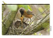 Robin Feeding Young Carry-all Pouch