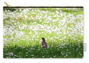 Robin In A Field Of Daisies Carry-all Pouch
