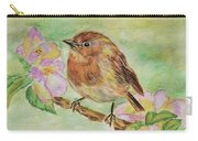 Robin In Flowers Carry-all Pouch