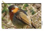 Robin In Hedgerow 3 Carry-all Pouch