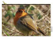 Robin In Hedgerow 2 Inch Donegal Carry-all Pouch