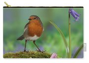 Robin In Spring Wood Carry-all Pouch