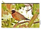 Robin In Tree Carry-all Pouch