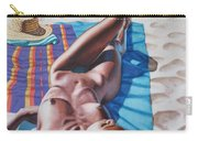 Robin At The Beach Carry-all Pouch