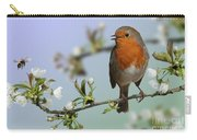 Robin On Cherry Blossom Carry-all Pouch