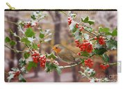 Robin On Holly Twigs Carry-all Pouch