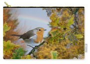 Robin On Oak Branch Carry-all Pouch