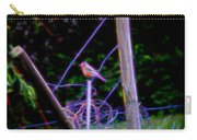Robin On The Wires Carry-all Pouch