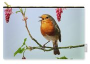 Robin Singing On Flowering Currant Carry-all Pouch