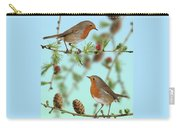 Robins On Larch Carry-all Pouch