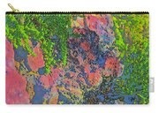 Rock And Shrub Abstract Bright Carry-all Pouch