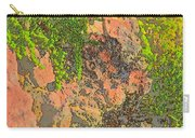 Rock And Shrub Abstract I  Carry-all Pouch
