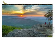 Rock Climbing At Ravens Roost Pano Carry-all Pouch