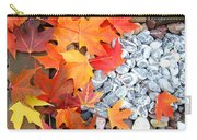 Rock Garden Autumn Leaves Carry-all Pouch