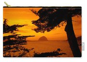 Rock In A Lake At Dusk, Morro Rock Carry-all Pouch